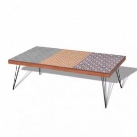 Table basse marron 120 x 60...