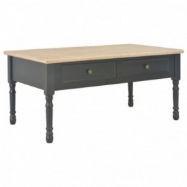 Table basse pin solide Noir...