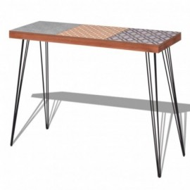 Table console MDF et acier...