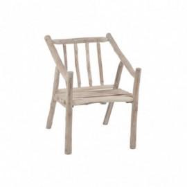 Chaise branches en bois
