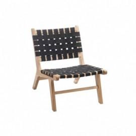 Chaise ethnique en bois et...