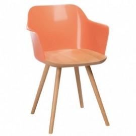 Chaise retro en bois et...