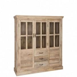 Vitrine 2 portes en bois 145cm
