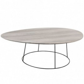 Table basse Ovale Mdf et...