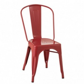Chaise bistrot Metal Rouge