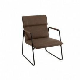 Chaise Metal Marron