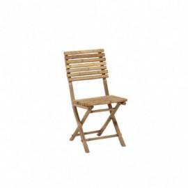 Chaise Pliable Bambou Naturel