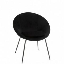 fauteuil Metal et Textile Noir