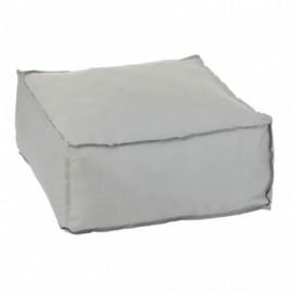Pouf Carre Polyester Gris
