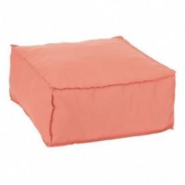 Pouf Carre Polyester Orange