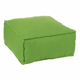 Pouf Carre Polyester Vert