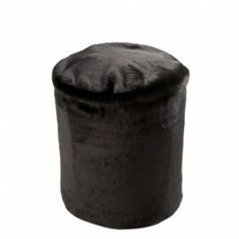 Pouf Cutie Rond Polyester Noir