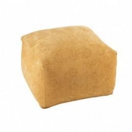 Pouf Coton Ocre