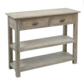 Console 2 tiroirs en bois...