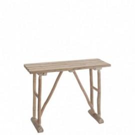 Console en bois brut 97cm