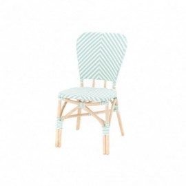 Chaise Bistrot Vert Blanc...