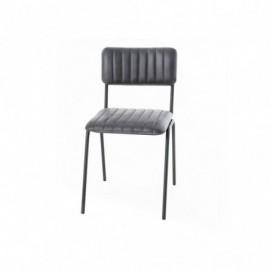 Chaise Noire En Cuir Style...