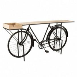 Console vélo métal et bois...