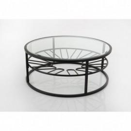 Table Basse Ronde Vitre...