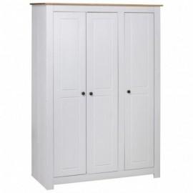 Garde-robe 3 portes Blanc...