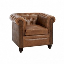 Fauteuil chesterfield cuir...