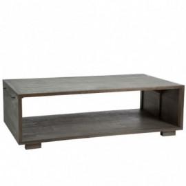 Table basse en bois gris...