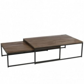 Table de salon x2 en bois...