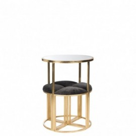 Table d'appoint + 4 chaises...