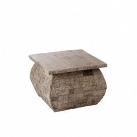Table d'appoint carrée en...