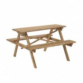 Table de jardin en bambou...