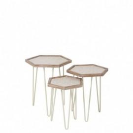 Tables gigognes hexagonales...