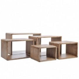 Tables gigognes x5 en bois...