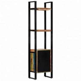 Bibliothèque en bois de récupération et metal 45 x 30 x 171 cm