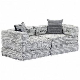 canapé 2 places tissu gris...