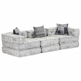 canapé 3 places tissu gris...
