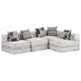 canapé 4 places tissu gris...