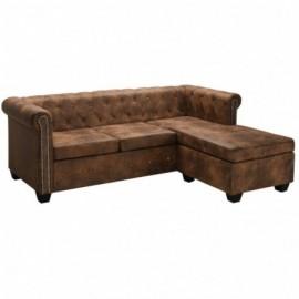 Canapé d'angle Chesterfield...