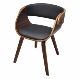 chaise en bois courbé et...