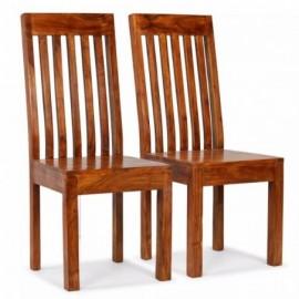 lot 2 chaises en acacia...