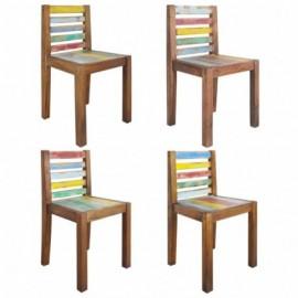 lot 4 Chaises en bois de...