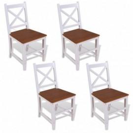 lot 4 chaises en teck...