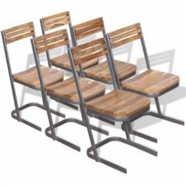 lot 6 chaises en teck...