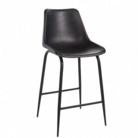 Chaise de bar cuir en métal noir hauteur 100cm