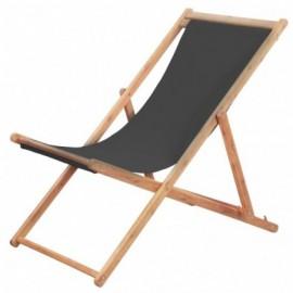 Chaise pliable eucalyptus Gris