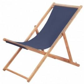 Chaise pliable Tissu  Bleu
