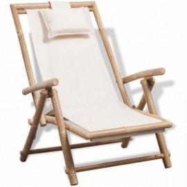 chaise relax en bamboo