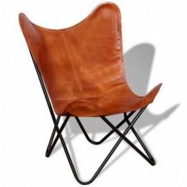 fauteuil papillon en cuir...