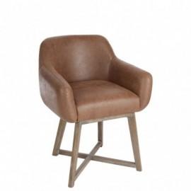 Chaise de table croix cuir...