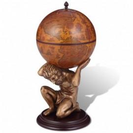 Bar globe monde support Atlas