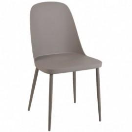 Chaise de table leo gris